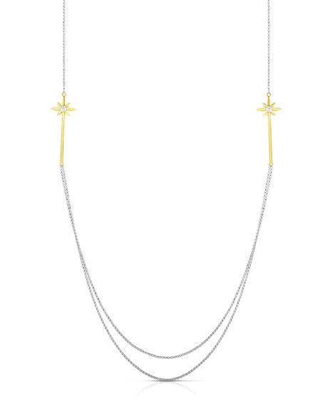 Roberto Coin x Disney Cinderella Long Wand Multi-Strand Diamond Necklace