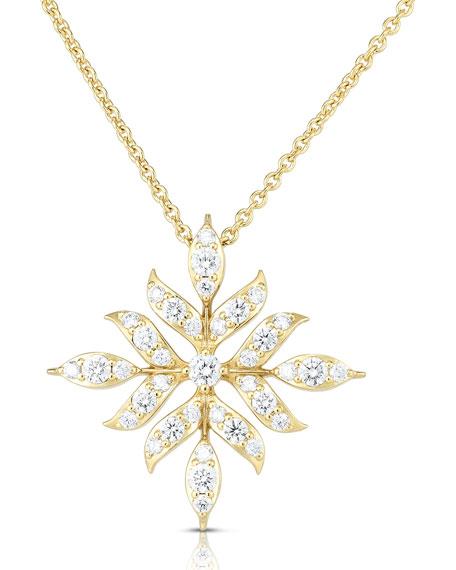 Roberto Coin x Disney's Frozen 2 18k Gold Large Wheat Pendant Necklace