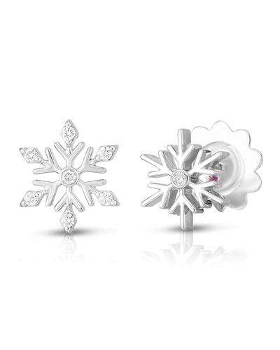 x Disney's Frozen 2  Small Diamond Snow Earrings