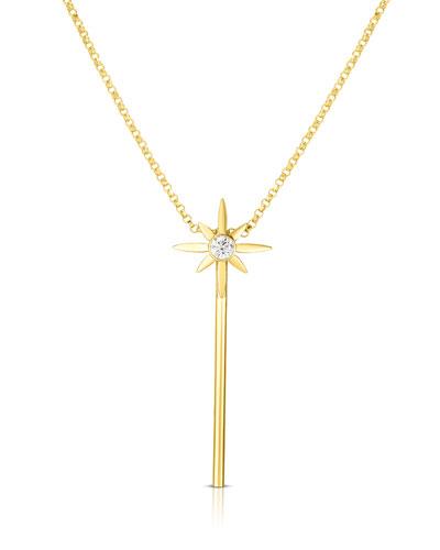 x Disney Cinderella Diamond Wand Necklace