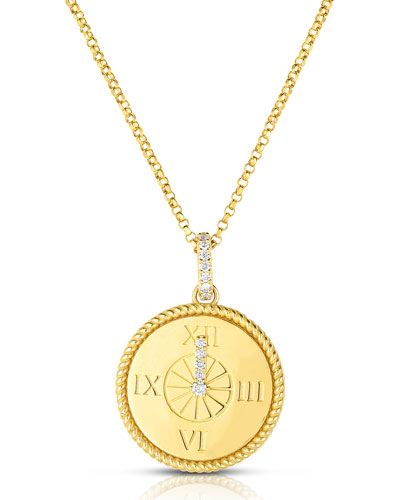 x Disney Cinderella Diamond Clock Necklace