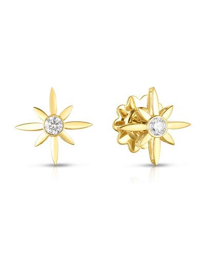 x Disney Cinderella Diamond Star Stud Earrings