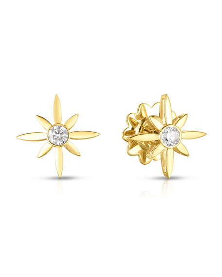 Roberto Coin x Disney Cinderella Diamond Star Stud Earrings