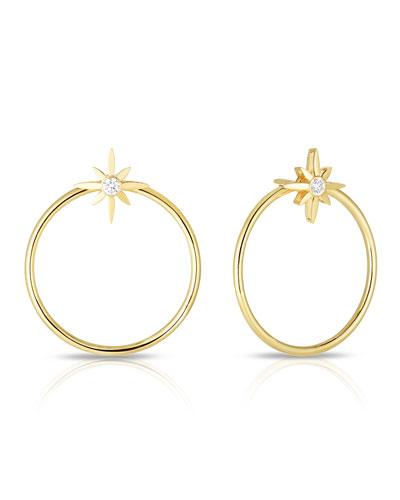 x Disney Cinderella Diamond Star Hoop Earrings