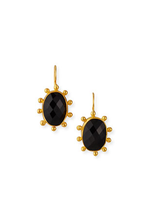 Dina Mackney Large Black Onyx Pinwheel Earrings