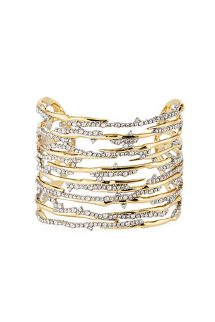 Alexis Bittar Pave Spiked Cuff Bracelet