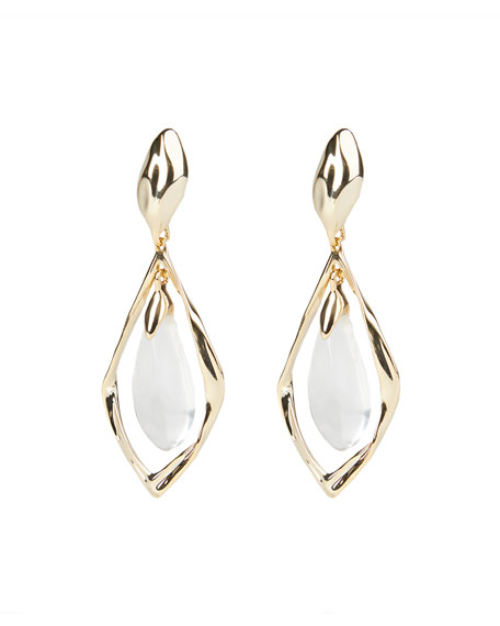 Image 2 of 3: Alexis Bittar Crumpled Metal Framed Clip Earrings