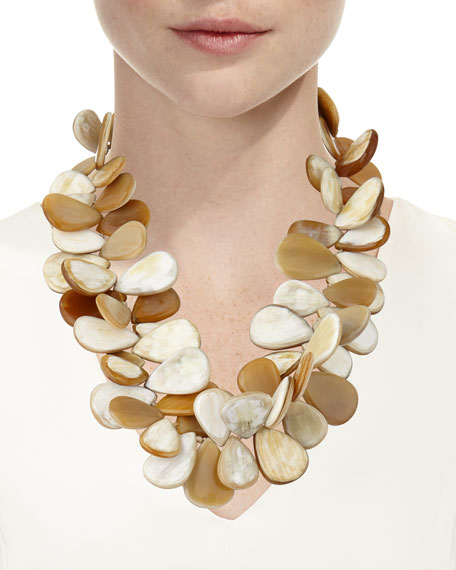 NEST Jewelry Signature Blonde Horn Cluster Necklace