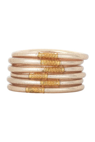 BuDhaGirl Champagne All-Weather Bangles, Size S-L