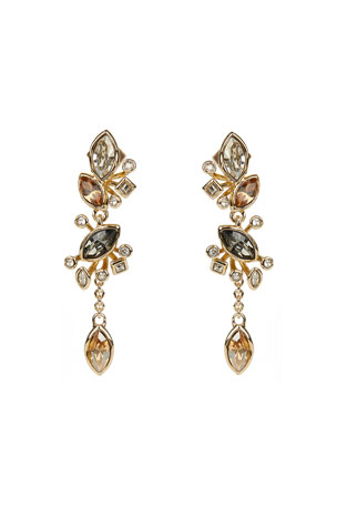 Alexis Bittar Navette Crystal Cluster Post Earrings