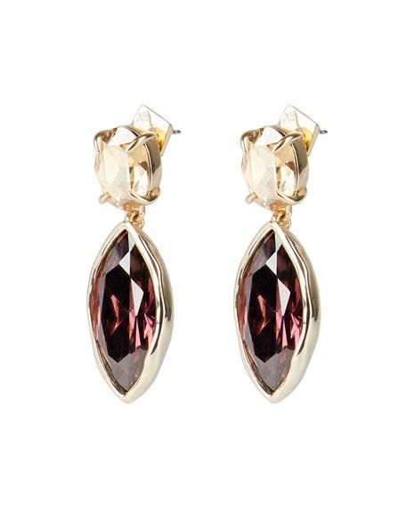 Alexis Bittar Navette Crystal Drop Post Earrings