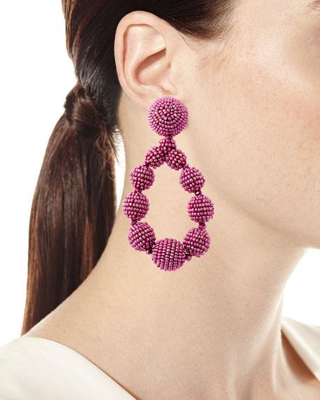 Sachin & Babi Seed Bead Teardrop Clip-On Earrings