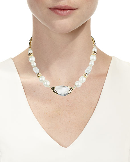 Image 2 of 2: Encased Pebble Pearl-Strand Necklace
