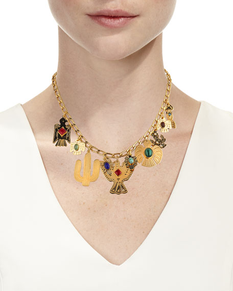 Gas Bijoux Mixed-Charm Necklace