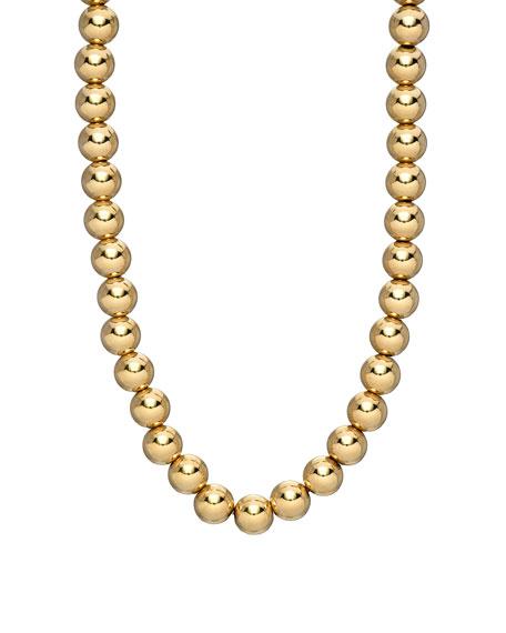 Zoe Lev Jewelry 14k Gold 5mm Bead Necklace