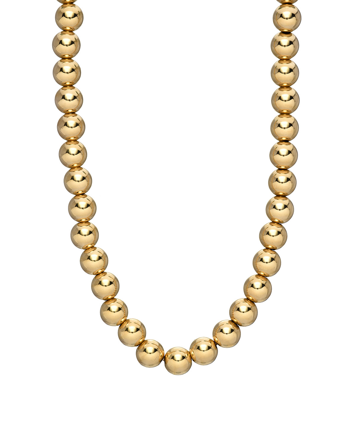 Zoe Lev Jewelry 14k Gold 5mm Bead Necklace