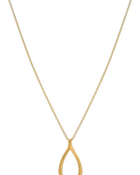 Zoe Lev Jewelry 14k Gold Wishbone Necklace