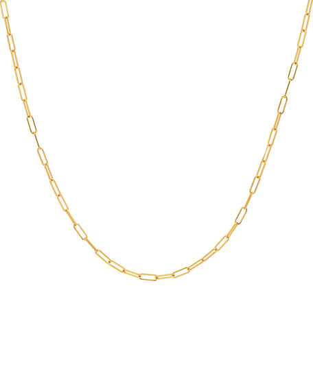Zoe Lev Jewelry 14k Gold Open Link Necklace