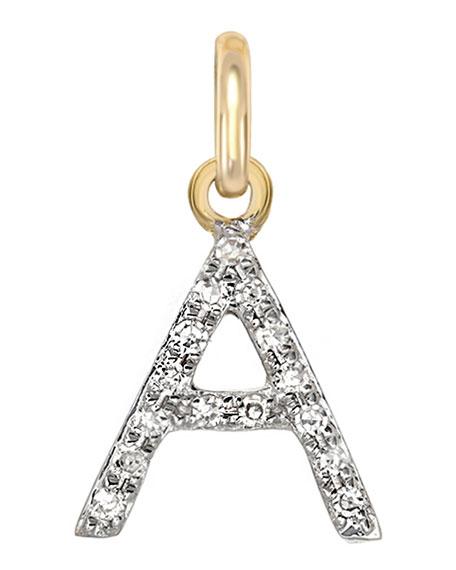 Zoe Lev Jewelry 14k Diamond Initial Pendant
