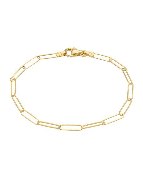 Zoe Lev Jewelry 14k Gold Paper Clip Chain Bracelet