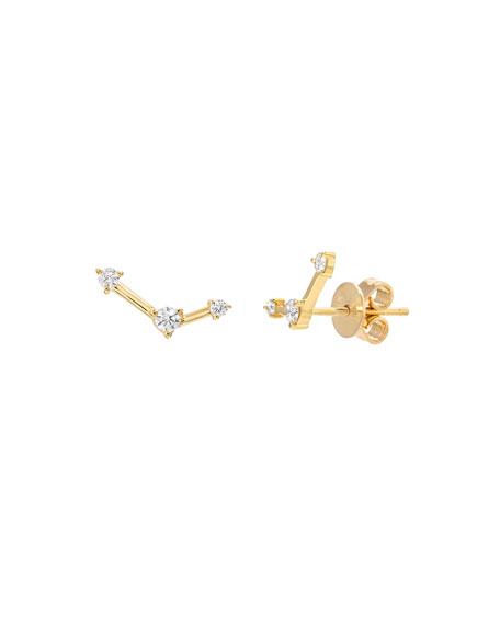 Zoe Lev Jewelry 14k Diamond Constellation Stud Earrings