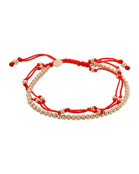 Zoe Lev Jewelry 14k Trio Fortune Adjustable Bracelet