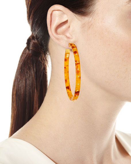 Image 2 of 2: Gas Bijoux Helious Hoop Earrings