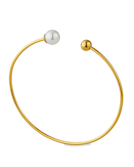 Majorica Aura Wire Pearly Bangle