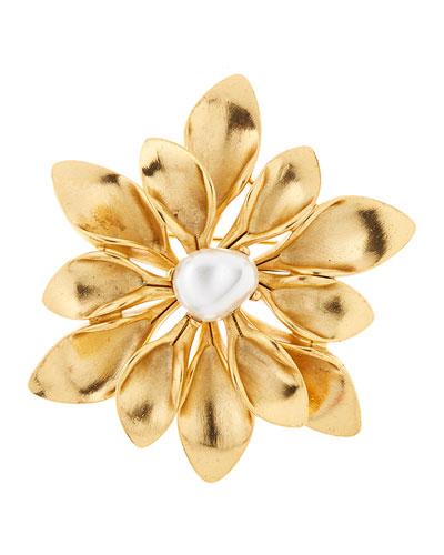 Pearly Flower Brooch