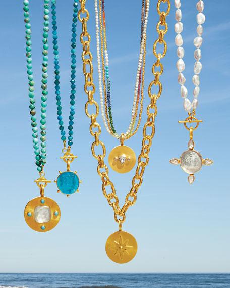 Dina Mackney Detachable Italian Glass Pendant Necklace