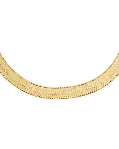 Wide Herringbone Necklace