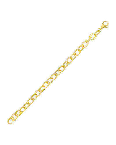 Cubic Zirconia Circular-Link Bracelet