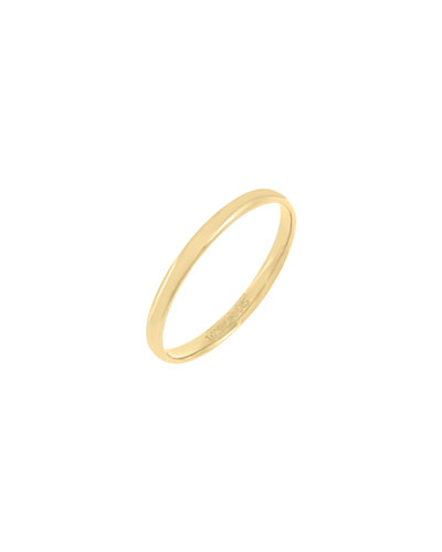 Solid 14k Gold Band Ring  Size 6-8
