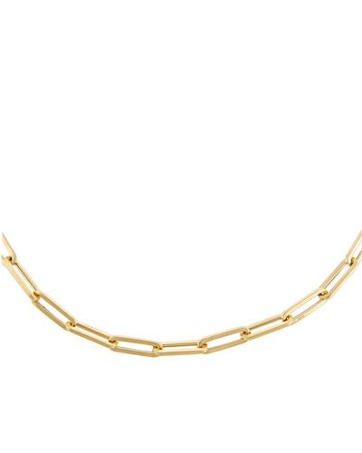14k Gold Paper Clip Necklace