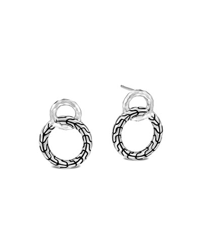 Classic Chain Interlocking Hoop Stud Earrings