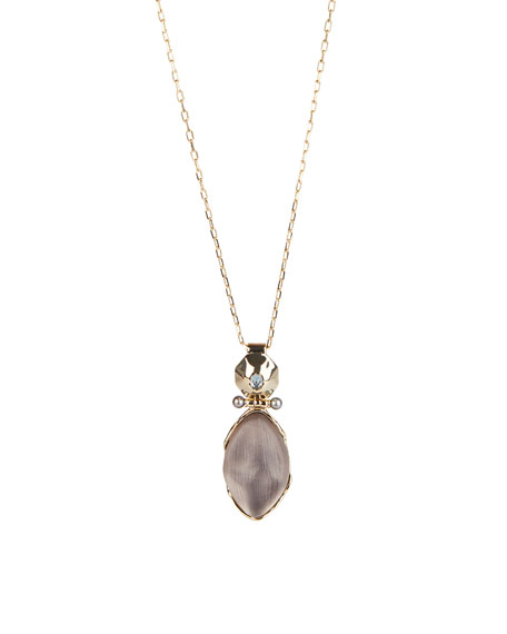 Alexis Bittar Soft Octagon Long Hinged Pendant Necklace
