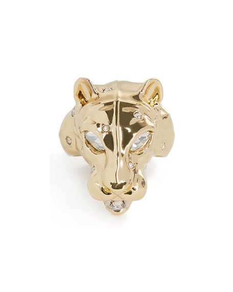 Alexis Bittar Panther Head Ring, Size 6-8