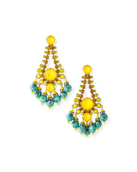 Elizabeth Cole Manon Dangle Earrings
