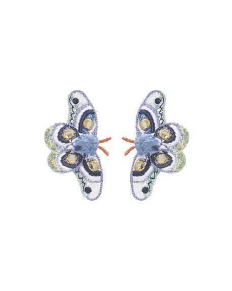 Mignonne Gavigan Atlas Moth Stud Earrings