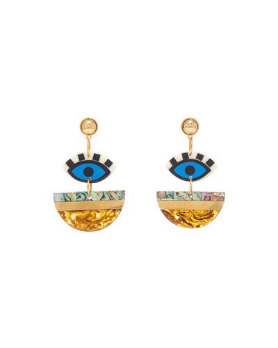 Eden Geometric Drop Earrings