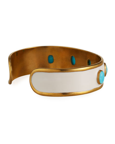 Image 4 of 4: Dina Mackney Turquoise Mini Cuff Bracelet