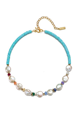 Sequin Multi-Pearl Necklace