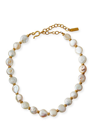 Sequin Baroque Pearl Necklace