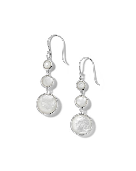 Ippolita Lollipop Lollitini 3-Stone Drop Earrings in Sterling Silver with Mother-of-Pearl Doublet
