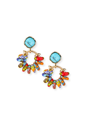 Akola Rainbow Crystal Statement Earrings