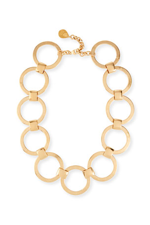 Devon Leigh Circle-Link Collar Necklace