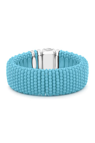 Lagos Blue Caviar Ceramic Bracelet, 23mm