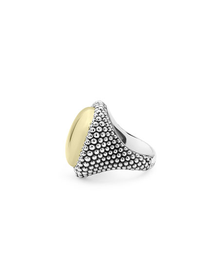 LAGOS High Bar Oval Dome Ring, Size 7