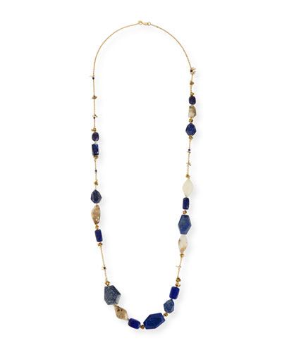 Long Beaded Station Necklace