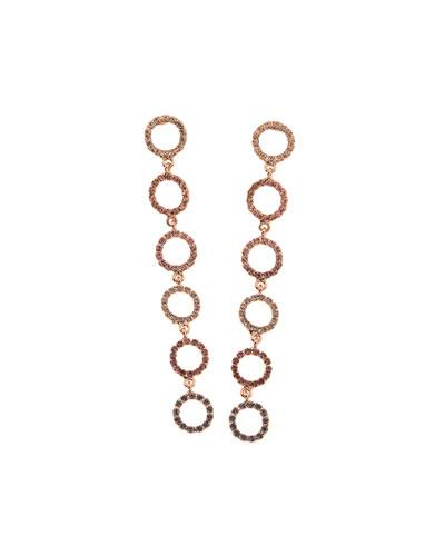 Claudia Dangle Earrings  Pink